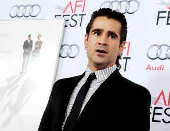 """HOLLYWOOD, CA - NOVEMBER 07:  Actor Colin Farrell arrives at Walt Disney Pictures' """"Saving Mr. Banks"""" during AFI FEST 2013 presented by Audi at TCL Chinese Theatre on November 7, 2013 in Hollywood, California.  (Photo by Kevin Winter/Getty Images for AFI)"""