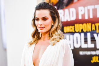 """HOLLYWOOD, CALIFORNIA - JULY 22: (EDITORS NOTE: Image has been edited using digital filters)  Margot Robbie attends Sony Pictures' """"Once Upon A Time...In Hollywood"""" Los Angeles Premiere on July 22, 2019 in Hollywood, California. (Photo by Matt Winkelmeyer/Getty Images)"""