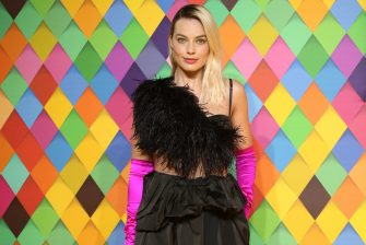 """LONDON, ENGLAND - JANUARY 29: Margot Robbie attends the """"Birds of Prey: And the Fantabulous Emancipation Of One Harley Quinn"""" World Premiere at the BFI IMAX on January 29, 2020 in London, England. (Photo by Lia Toby/Getty Images)"""