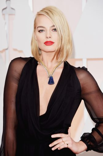 HOLLYWOOD, CA - FEBRUARY 22:  Actress Margot Robbie attends the 87th Annual Academy Awards at Hollywood & Highland Center on February 22, 2015 in Hollywood, California.  (Photo by Jason Merritt/Getty Images)