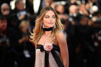 """Australian actress Margot Robbie poses as she arrives for the screening of the film """"Once Upon a Time... in Hollywood"""" at the 72nd edition of the Cannes Film Festival in Cannes, southern France, on May 21, 2019. (Photo by LOIC VENANCE / AFP) (Photo by LOIC VENANCE/AFP via Getty Images)"""