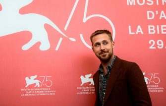 """Canadian actor Ryan Gosling attends a photocall for the film """"First Man"""" on August 29, 2018 prior to its premiere in competition at the 75th Venice Film Festival at Venice Lido. (Photo by Filippo MONTEFORTE / AFP)        (Photo credit should read FILIPPO MONTEFORTE/AFP via Getty Images)"""