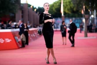 "ROME, ITALY - OCTOBER 25: Nancy Brilli attends the red carpet of the movie ""Il cinema è una cosa meravigliosa"" during the 14th Rome Film Festival on October 25, 2019 in Rome, Italy. (Photo by Franco Origlia/Getty Images)"
