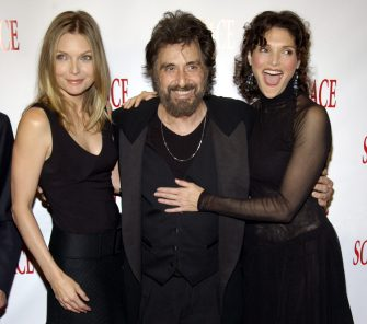 Michelle Pfeiffer, Al Pacino and Mary Elizabeth Mastrantonio (Photo by KMazur/WireImage)