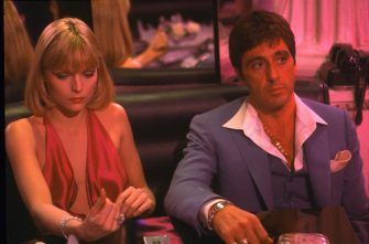 MICHELLE PFEIFFER & AL PACINO in Scarface Filmstill - Editorial Use Only Ref: FB sales@capitalpictures.com www.capitalpictures.com Supplied by Capital Pictures