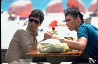 AL PACINO & STEVEN BAUER in Scarface Filmstill - Editorial Use Only Ref: FB sales@capitalpictures.com www.capitalpictures.com Supplied by Capital Pictures