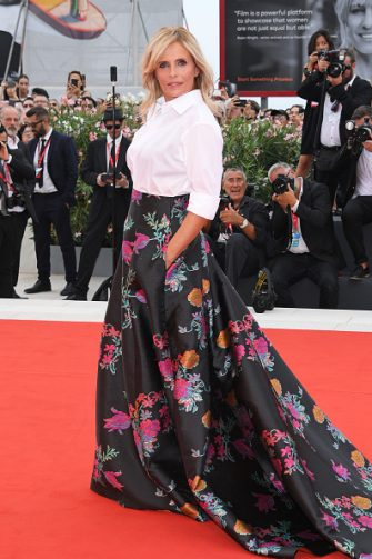 "VENICE, ITALY - AUGUST 28:  Isabella Ferrari walks the red carpet ahead of the Opening Ceremony and the ""La Vérité"" (The Truth) screening during the 76th Venice Film Festival at Sala Grande on August 28, 2019 in Venice, Italy. (Photo by Daniele Venturelli/WireImage )"