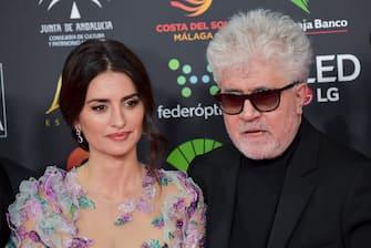 MALAGA, SPAIN - JANUARY 25: Penelope Cruz and Pedro Almodovar attend the 34th edition of the 'Goya Cinema Awards' ceremony at Jose Maria Martin Carpena Sports Palace on January 25, 2020 in Malaga, Spain. (Photo by Juan Naharro Gimenez/Getty Images)