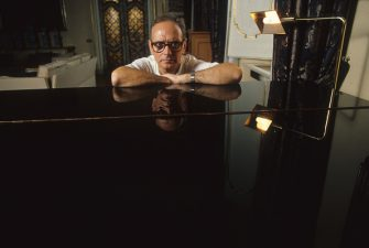 Italian music composer Ennio Morricone in his house, Rome, Italy, 1987. (Photo by Luciano Viti/Getty Images)