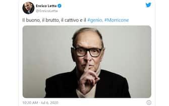 enrico letta twitter morricone
