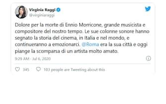 virginia raggi twitter morricone