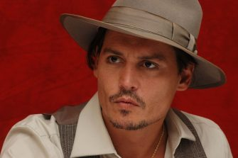 """Johnny Depp at the Hollywood Foreign Press Association press conference for the movie """"Public Enemies"""" held in Chicago, Illinois on June 19, 2009. Photo by: Yoram Kahana_Shooting Star. NO TABLOID PUBLICATIONS. NO USA SALES UNTIL SEPTEMBER 20, 2009."""