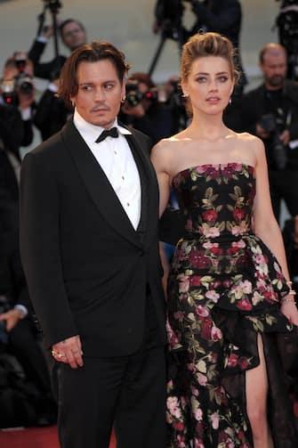 Venezia, 05/09/2015 72 Mostra del cinema nella foto : Johnny Depp, Amber Heard ©fotostore