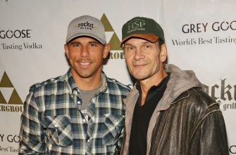 CHICAGO - NOVEMBER 23: Billy Dec and Patrick Swayze attend The Beast Wrap - Party presented by Grey Goose Vodka at The Underground on November 23, 2008 in Chicago, Illinois. (Photo by Barry Brecheisen/WireImage for Rockit Ranch Productions)
