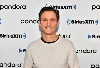 """NEW YORK, NEW YORK - JANUARY 10: (EXCLUSIVE COVERAGE) Actor Tony Goldwyn visits """"In Depth with Larry Flick"""" at SiriusXM Studios on January 10, 2020 in New York City. (Photo by Slaven Vlasic/Getty Images)"""