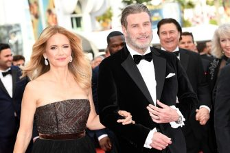 """CANNES, FRANCE - MAY 15:  Kelly Preston (L) and John Travolta of """"Gotti"""" attend the red carpet screening of """"Solo: A Star Wars Story"""" during the 71st annual Cannes Film Festival at Palais des Festivals on May 15, 2018 in Cannes, France.  (Photo by Pascal Le Segretain/Getty Images)"""