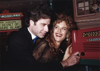LOS ANGELES - 1991:  John Travolta and wife Kelly Preston at the opening of the Church of Scientology Museum in Los Angeles. (Photo by Joan Adlen/Getty Images)