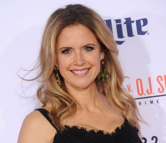 """WESTWOOD, CA - JANUARY 27:  Actress Kelly Preston arrives at the premiere of """"FX's """"American Crime Story - The People V. O.J. Simpson"""" at Westwood Village Theatre on January 27, 2016 in Westwood, California.  (Photo by Gregg DeGuire/WireImage)"""