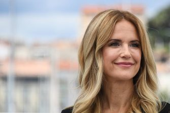 """US actress Kelly Preston poses on May 15, 2018 during a photocall for the film """"Gotti"""" at the 71st edition of the Cannes Film Festival in Cannes, southern France. (Photo by Anne-Christine POUJOULAT / AFP)        (Photo credit should read ANNE-CHRISTINE POUJOULAT/AFP via Getty Images)"""