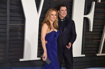 BEVERLY HILLS, CA - FEBRUARY 22:  Kelly Preston and John Travolta attend 2015 Vanity Fair Oscar Party Hosted By Graydon Carter at Wallis Annenberg Center for the Performing Arts on February 22, 2015 in Beverly Hills, California.  (Photo by Venturelli/Getty Images)