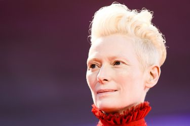 "Actress Tilda Swinton arrives for the premiere of the film ""Suspiria"" presented in competition on September 1, 2018 during the 75th Venice Film Festival at Venice Lido. (Photo by Filippo MONTEFORTE / AFP)        (Photo credit should read FILIPPO MONTEFORTE/AFP via Getty Images)"