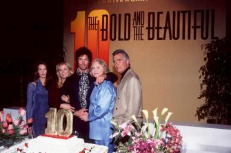 Hunter Tylo, Katherine Kelly, Lang, Ronn Moss, Susan Flannery and John McCook (Photo by Magma Agency/WireImage)