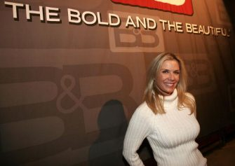 LOS ANGELES - JANUARY 23:  Actress Katherine Kelly Lang, an original cast member of The Bold And The Beautiful, poses at a party celebrating the 5000th episode of The Bold And The Beautiful on Stage 31 of CBS Television City January 23, 2007 in Beverly Hills, California.  (Photo by Charley Gallay/Getty Images)