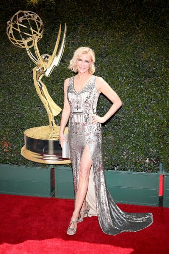 PASADENA, CA - APRIL 29:  Katherine Kelly Lang attends the 45th annual Daytime Emmy Awards at Pasadena Civic Auditorium on April 29, 2018 in Pasadena, California.  (Photo by Phillip Faraone/WireImage)