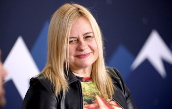 PARK CITY, UT - JANUARY 25:  Co-dorector Veronika Franz of 'The Lodge' attends The IMDb Studio at Acura Festival Village on location at the 2019 Sundance Fillm Festival - Day 1 on January 25, 2019 in Park City, Utah.  (Photo by Rich Polk/Getty Images for IMDb)