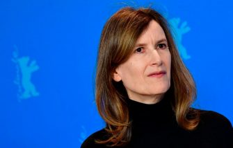 """British director Joanna Hogg poses for photographers during a photocall for the film """"The Souvenir"""" at the 69th Berlinale film festival on February 12, 2019 in Berlin. - The Berlin film festival will be running from February 7 to 17, 2019. Nearly 400 movies from around the world will be presented, with 17 vying for the prestigious Golden Bear top prize. (Photo by Tobias SCHWARZ / AFP)        (Photo credit should read TOBIAS SCHWARZ/AFP via Getty Images)"""