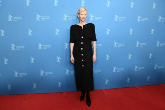 "BERLIN, GERMANY - FEBRUARY 12:  Tilda Swinton attends the ""The Souvenir"" premiere during the 69th Berlinale International Film Festival Berlin at Zoo Palast on February 12, 2019 in Berlin, Germany. (Photo by Matthias Nareyek/WireImage)"