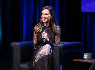 """TORONTO, ON - SEPTEMBER 11:  Hilary Swank attends """"In Conversation With...Hilary Swank"""" during 2018 Toronto International Film Festival at Glenn Gould Studio at CBC on September 11, 2018 in Toronto, Canada.  (Photo by Rich Fury/Getty Images)"""