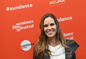 Actress Hilary Swank attends the 'What They Had' Premiere during the 2018 Sundance Film Festival at Eccles Theater on January 21, 2018 in Park City, Utah. / AFP PHOTO / ANGELA WEISS        (Photo credit should read ANGELA WEISS/AFP via Getty Images)