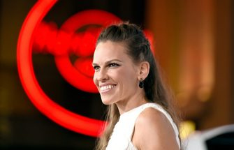 """HOLLYWOOD, CA - NOVEMBER 11:  Actress Hilary Swank attends the screening of """"The Homesman"""" during AFI FEST 2014 presented by Audi at Dolby Theatre on November 11, 2014 in Hollywood, California.  (Photo by Kevork Djansezian/WireImage)"""