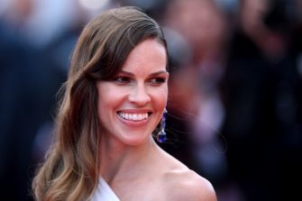 """CANNES, FRANCE - MAY 18:  Hilary Swank attends """"The Homesman"""" premiere during the 67th Annual Cannes Film Festival on May 18, 2014 in Cannes, France.  (Photo by Gareth Cattermole/Getty Images)"""