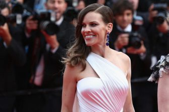 """CANNES, FRANCE - MAY 18:  Actress Hilary Swank attends """"The Homesman"""" premiere during the 67th Annual Cannes Film Festival on May 18, 2014 in Cannes, France.  (Photo by Tim P. Whitby/Getty Images)"""