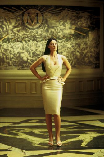 MONICA BELLUCCI in Warner Bros. Pictures' and Village Roadshow Pictures' provocative futuristic action thriller THE MATRIX RELOADED, starring Keanu Reeves, Laurence Fishburne and Carrie-Anne Moss.  PHOTOGRAPHS TO BE USED SOLELY FOR ADVERTISING, PROMOTION, PUBLICITY OR REVIEWS OF THIS SPECIFIC MOTION PICTURE AND TO REMAIN THE PROPERTY OF THE STUDIO. NOT FOR SALE OR REDISTRIBUTION