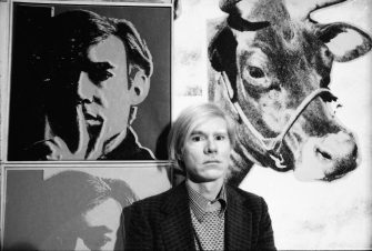 Andy Warhol at his May 1971 retrospective at the Whitney Museum of American Art, New York. (Photo by Jack Mitchell/Getty Images)