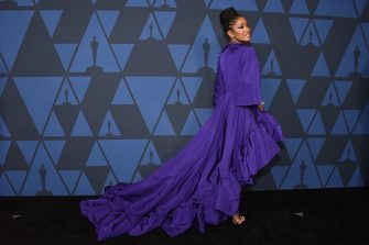 US actress Keke Palmer arrives to attend the 11th Annual Governors Awards gala hosted by the Academy of Motion Picture Arts and Sciences at the Dolby Theater in Hollywood on October 27, 2019. (Photo by Chris Delmas / AFP) (Photo by CHRIS DELMAS/AFP via Getty Images)