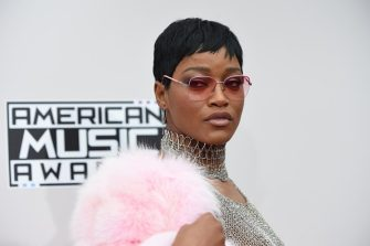 Actress Keke Palmer arrives for the 2016 American Music Awards, November 20, 2016 at the Microsoft Theater in Los Angeles, California. / AFP / Valerie Macon        (Photo credit should read VALERIE MACON/AFP via Getty Images)