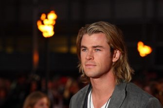 LONDON, ENGLAND - MARCH 14:  Chris Hemsworth attsends the European premiere of The Hunger Games at O2 Arena on March 14, 2012 in London, England.  (Photo by Mike Marsland/WireImage)