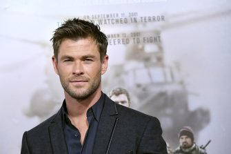 """NEW YORK, NY - JANUARY 16:  Actor Chris Hemsworth attends the """"12 Strong"""" World Premiere at Jazz at Lincoln Center on January 16, 2018 in New York City.  (Photo by Mike Coppola/WireImage)"""