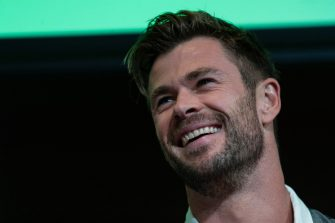 SYDNEY, AUSTRALIA - OCTOBER 30: Chris Hemsworth attends a preview of Tourism Australia's latest campaign at Sydney Opera House on October 30, 2019 in Sydney, Australia. (Photo by Brook Mitchell/Getty Images)