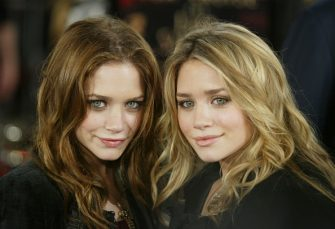 """LOS ANGELES - DECEMBER 1:  Actresses Mary-Kate and Ashley Olsen attend the WB's premiere of """"The Last Samurai"""" held on December 1, 2003 at the Mann's Village Theatre, in Los Angeles, California. (Photo by Carlo Allegri/Getty Images)"""