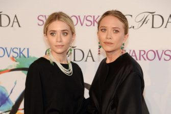 NEW YORK, NY - JUNE 02:  Designers Ashley Olsen (L) and Mary-Kate Olsen attend the 2014 CFDA fashion awards at Alice Tully Hall, Lincoln Center on June 2, 2014 in New York City.  (Photo by Jamie McCarthy/WireImage)
