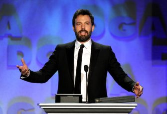"""LOS ANGELES, CA - FEBRUARY 02:  Director Ben Affleck accepts the Outstanding Directorial Achievement in Feature Film for 2012 award for """"Argo"""" onstage during the 65th Annual Directors Guild Of America Awards at Ray Dolby Ballroom at Hollywood & Highland on February 2, 2013 in Los Angeles, California.  (Photo by Kevin Winter/Getty Images)"""