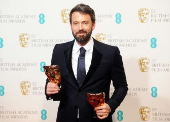 """LONDON, ENGLAND - FEBRUARY 10:  Ben Affleck, winner of the Best Film and Best Director award for """"Argo"""", poses in the press room at the EE British Academy Film Awards at The Royal Opera House on February 10, 2013 in London, England.  (Photo by Stuart Wilson/Getty Images)"""