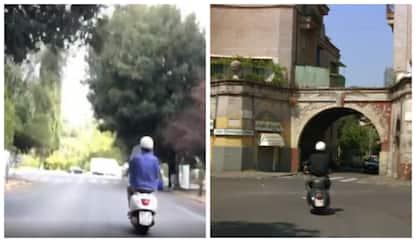 """Moretti in Vespa: il video su Instagram vs la scena di """"Caro Diario"""""""