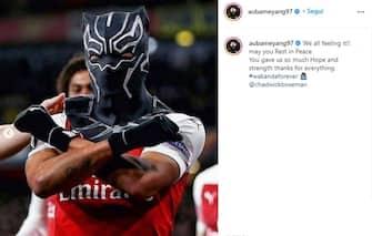 Aubameyang Instagram Black Panther