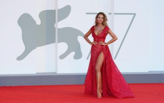 """VENICE, ITALY - SEPTEMBER 03: Madalina Ghenea walks the red carpet ahead of the movie """"Amants"""" at the 77th Venice Film Festival at  on September 03, 2020 in Venice, Italy. (Photo by Ernesto S. Ruscio/Getty Images)"""